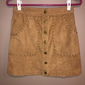NWT 🎀 FAUX SUEDE SKIRT BY COTTON CANDY LA